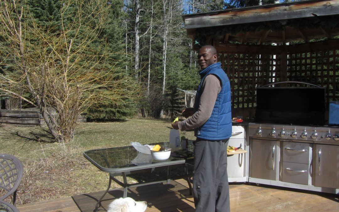 Kwesi on the deck