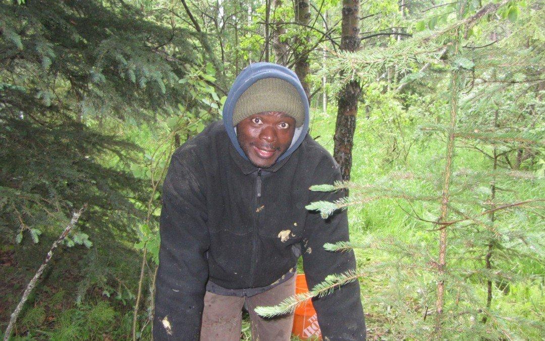 Kwesi having fun