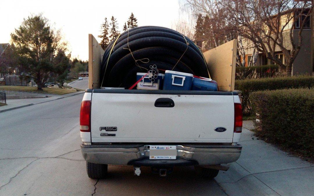 Loaded truck