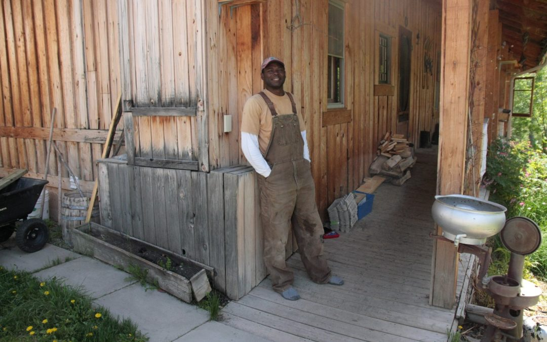 Kwesi - old overalls