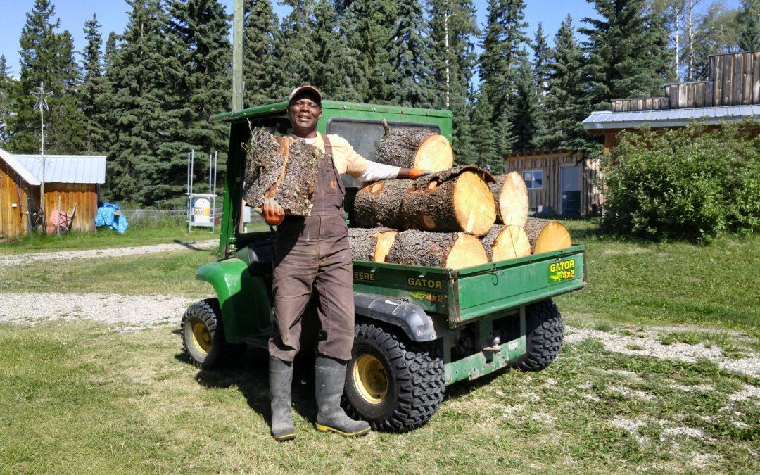 Kwesi and wood