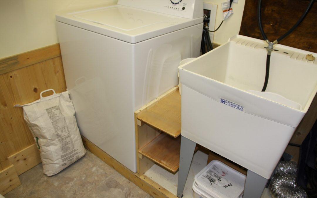 New shelf beside washing machine – 3 year to do list