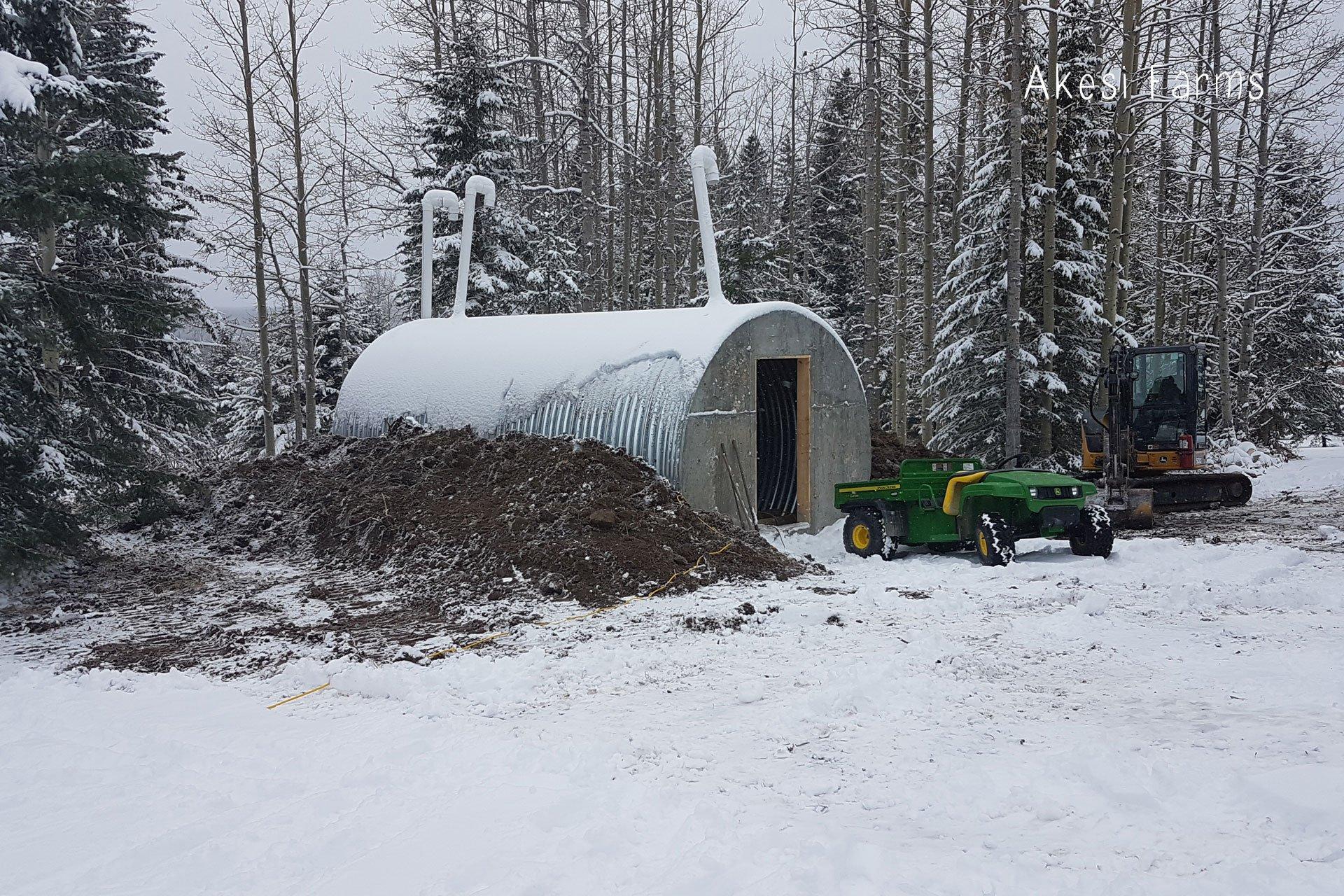 Root cellar progress