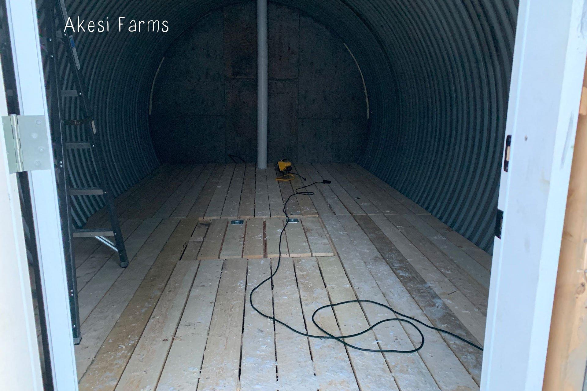 Root cellar floor